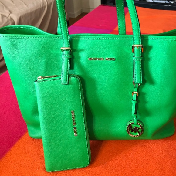 MK Green Bag and Walket